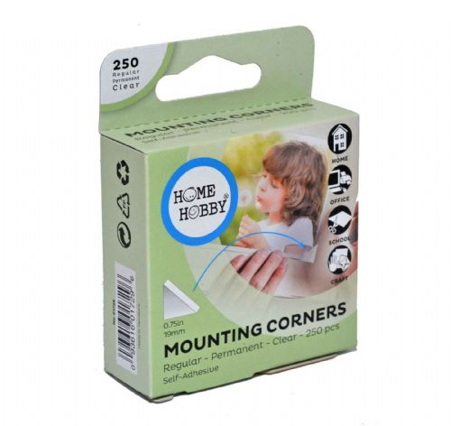 3L Home & Hobby Clear Large Photo Corners 19mm x 250